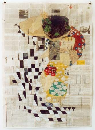 Gabriel Vormstein, La morte non trapasso, 2003, watercolour on paper, 156 x 112 cm